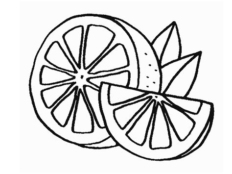 lemons fruit coloring pages to kids