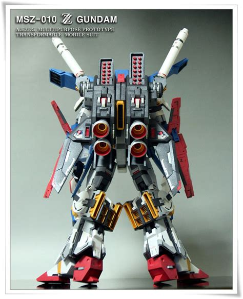 Gundam Papercraft - detailed msz 010 zz gundam papercraft by oadean3
