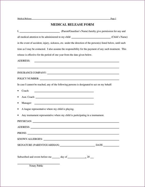 design form template accurate 4 medical release forms and the printed forms automatically