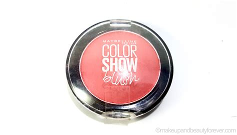 Maybelline Colour Show Blush On maybelline color show blush fresh coral review swatches