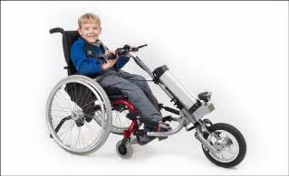 chair bike wheelchair bike attachment awesome stuff 365