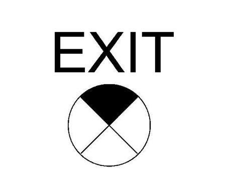 exit layout view autocad revitcity com object exit sign symbol