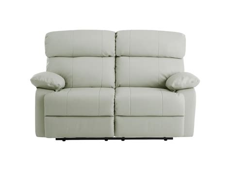 small white couch small leather couch in white color with recliner for
