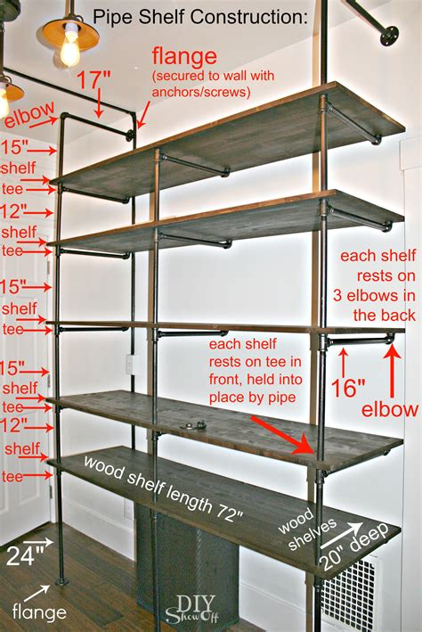 Propranolol Shelf by Diy Pipe Shelf Construction This Might Be The
