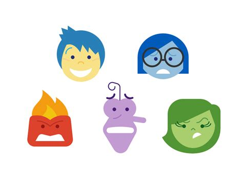 emoji characters inside out inside out icons by jory raphael dribbble