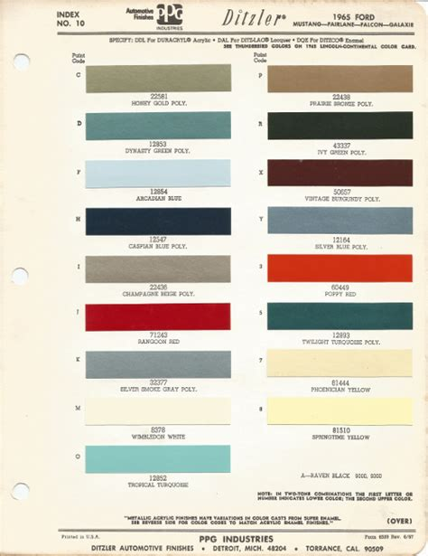 1965 ford mustang car paint colors urekem paints