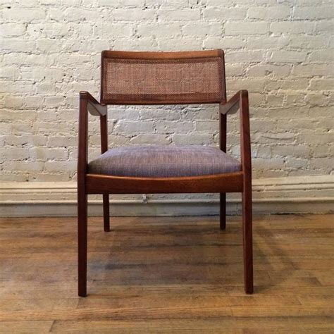 jens risom armchair jens risom walnut quot playboy quot armchair with cane back at 1stdibs