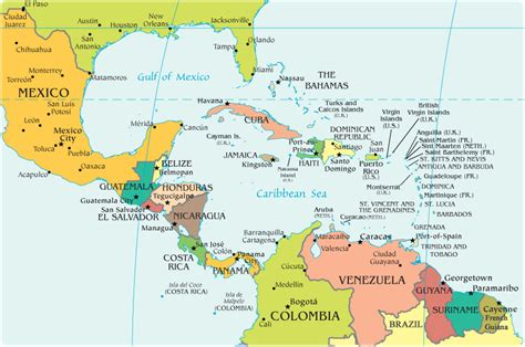 labeled map of central and south america map of central america freetemplate