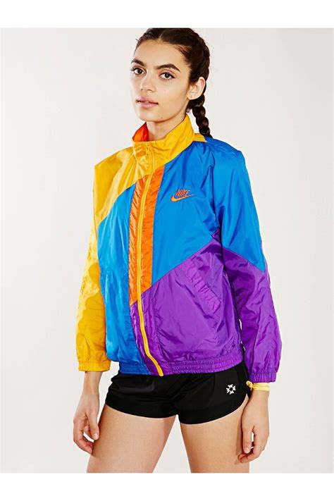 color block jacket lyst outfitters nike colorblock vintage running