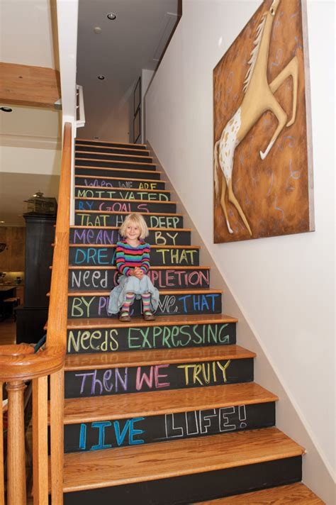 chalk paint steps 25 diy ways to update your stairs