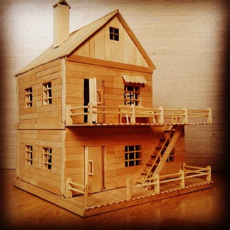 how to build a popsicle stick house architectural scale model is popsicle stick art made from