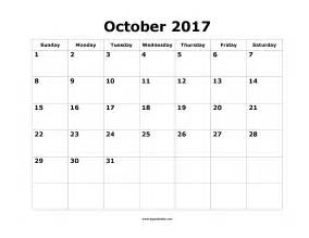Calendar Template October 2017 Printable October 2017 Calendar Template