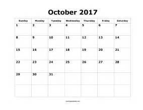 Calendar October 2017 Template Printable October 2017 Calendar Template