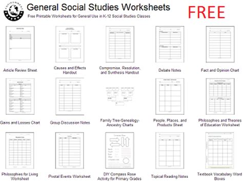 social studies for elementary grades free worksheets and
