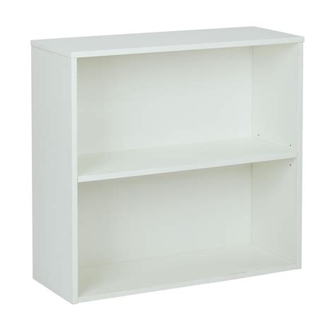 2 shelf white laminate bookcase quot prado 30 quot quot 2 shelf bookcase 3 4 quot quot shelf white