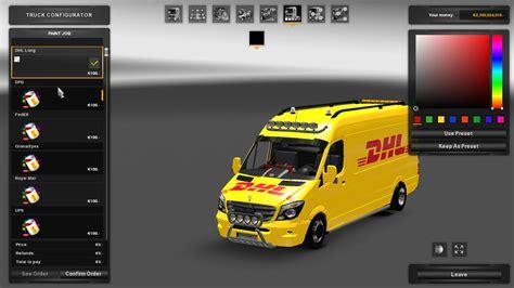 mercedes sprinter long  skinpack ets euro truck simulator  mods