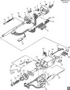 exploded view for the 1989 oldsmobile cutlass tilt steering column services