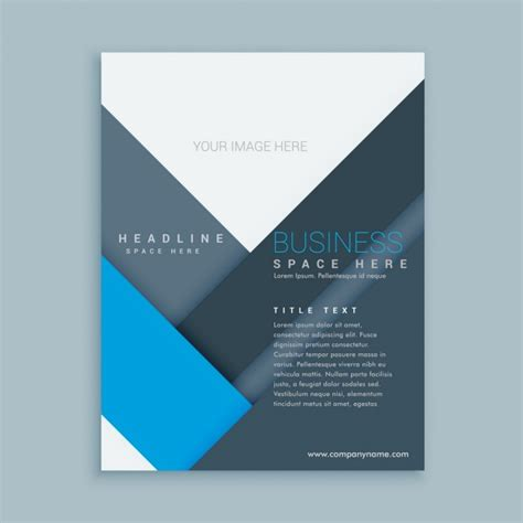 company brochure template with minimalist shapes vector