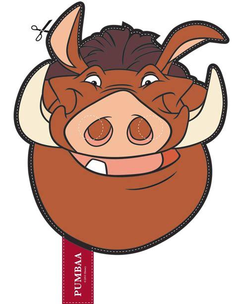 printable warthog mask how to craft lion king pumbaa s mask hellokids com