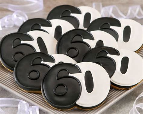 60th Birthday Giveaways - 60th birthday cookie favors