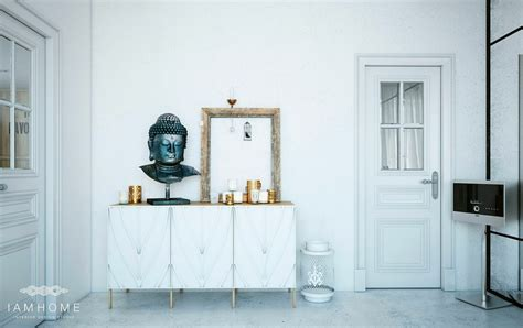 modern buddhist altar design stylish st petersburg apartment for an artistic