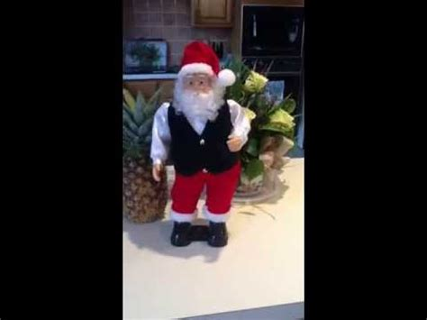 walmart singing and dancing santa claus santa singing santa claus is coming to town