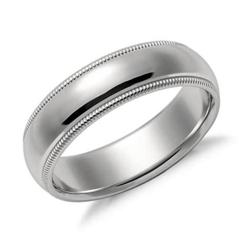 comfort fit ring milgrain comfort fit wedding ring in platinum 2 5mm blue nile