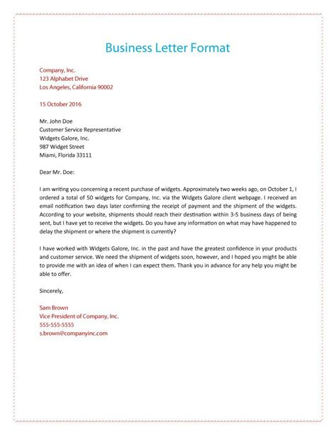 Business Letter Attention Line sle business letter format with thru cover letter