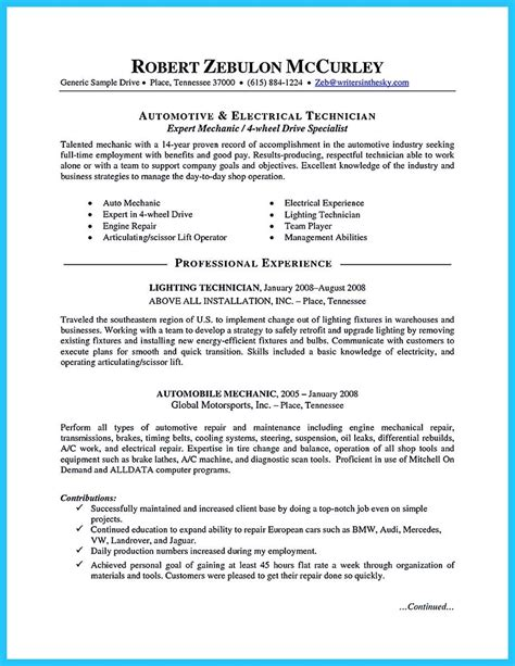 delivering your credentials effectively on auto mechanic resume awesome auto technician resume templates ornament resume