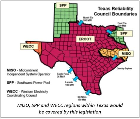 texas grid map association of electric companies of texas non ercot ratemaking