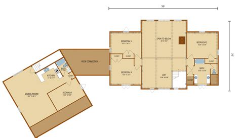 4 Bedroom Timber Frame House Plans by Legacy Timberhaven Log Timber Homes
