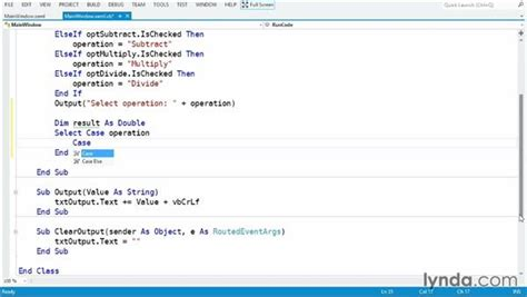 select case visual basic using the select case statement