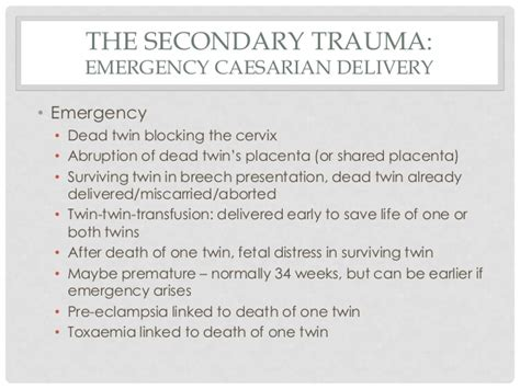 ptsd after emergency c section womb twin survivors healing the trauma