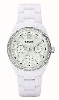 Fossil Ce 1042 Ceramic fossil womens set white ceramic bracelet
