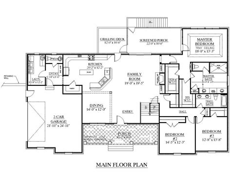 floor plans for ranch homes with wrap around porch single story ranch style house plans with wrap around