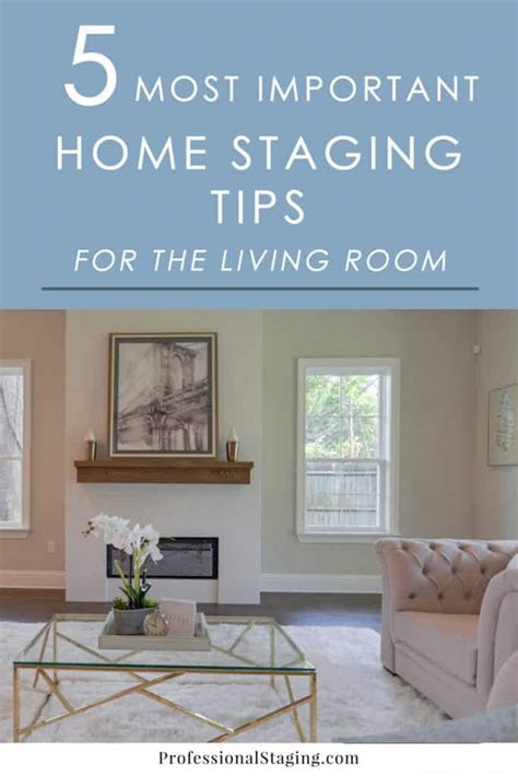 important home staging tips   living room