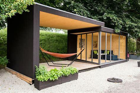 architektur garten gartenhaus ideen gartenpavillion gerade linien moderne