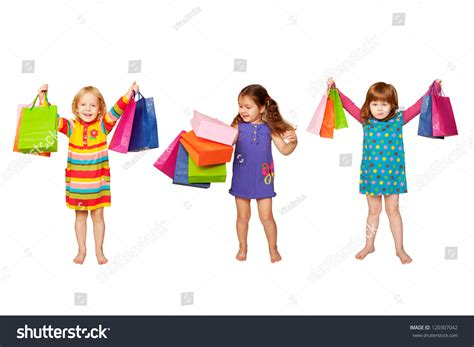 Attractive Christmas Clothes For Baby Girls #3: Stock-photo-kids-shopping-group-of-happy-little-fashion-girls-with-shopping-bags-isolated-on-white-background-120307042.jpg
