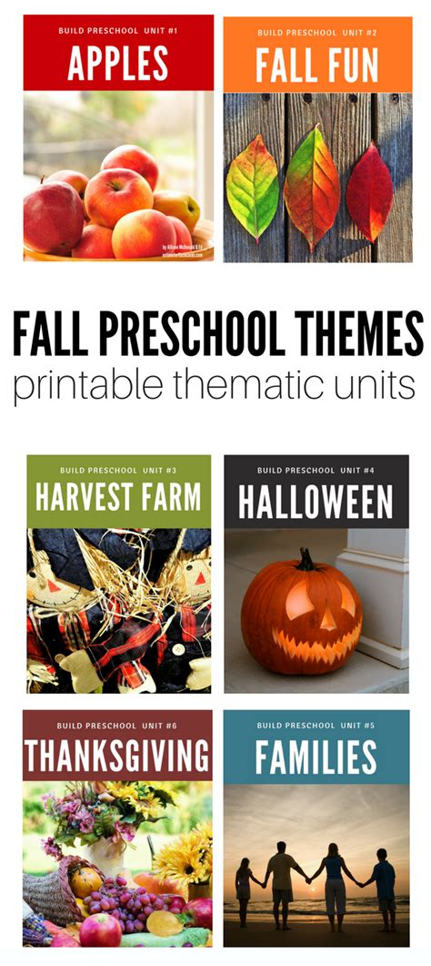 kindergarten themes thematic units fall thematic units on sale now no time for flash cards
