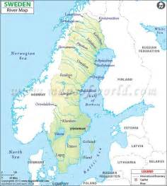 map of rivers and lakes sweden river map river map of sweden major rivers and