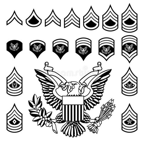 Digitec Army Blackwhite army rank insignia stock vector illustration of logo black 111010843