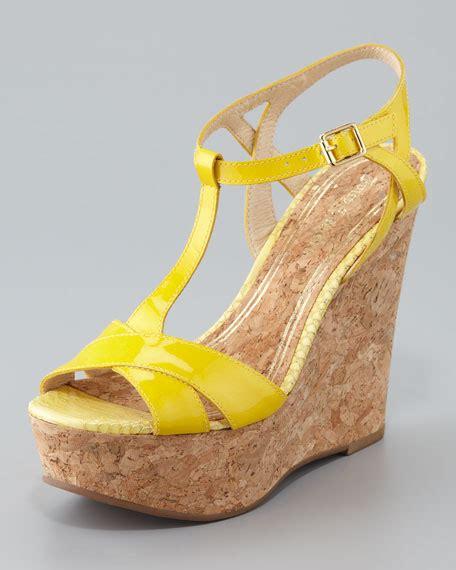 Sandal Wanita Couture Wedges couture dakota cork wedge sandal bright yellow