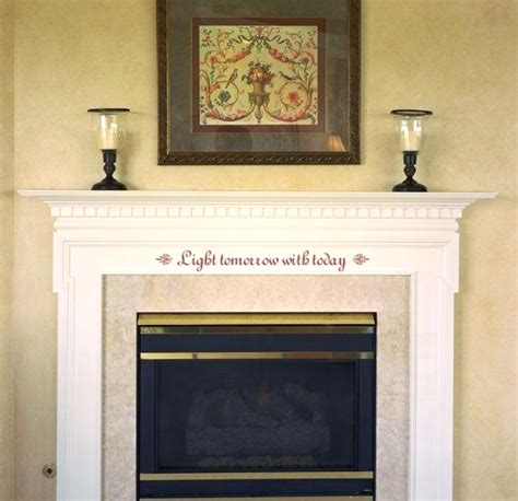 fireplace mantel decor idea