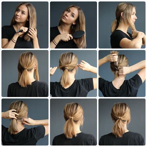 ways to put a bob in a ponytail ponytail on short hair tutorials kalisi skandinavia