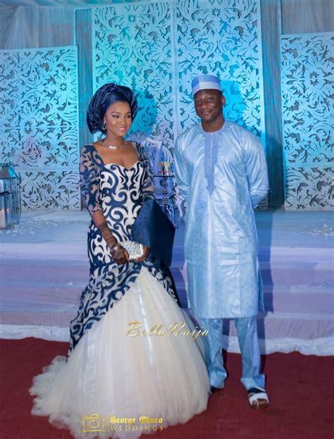 hausa latest design on gown with picture bellanaija bride groom muneerah umar hausa