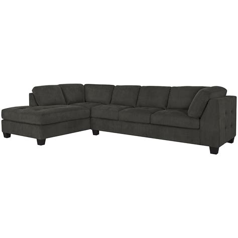 Gray Microfiber Sectional City Furniture Mercer2 Dk Gray Microfiber Left Chaise