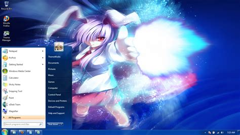 hot animated themes anime girls 24 windows 7 theme by windowsthemes on deviantart