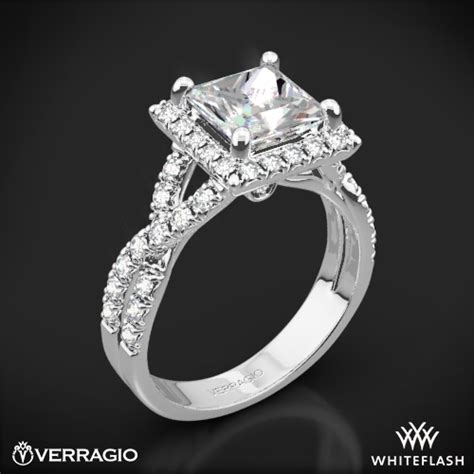 Square Engagement Rings by Verragio Square Halo Engagement Ring 1806