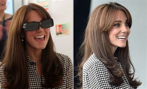 duchess kate shows off her new hairstyle picture the home daily mail online