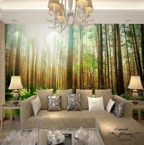 wall decals murals wallpaper woods forest landscap wall mural wallpaper print decal indoor deco ebay